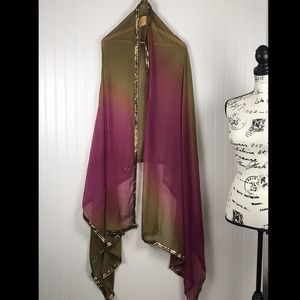 Accessories - Olive Green/Purple/Gold Indian Saree/Scarf/Wrap